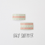 Ugly Sweater Faux Leather Snap Clip
