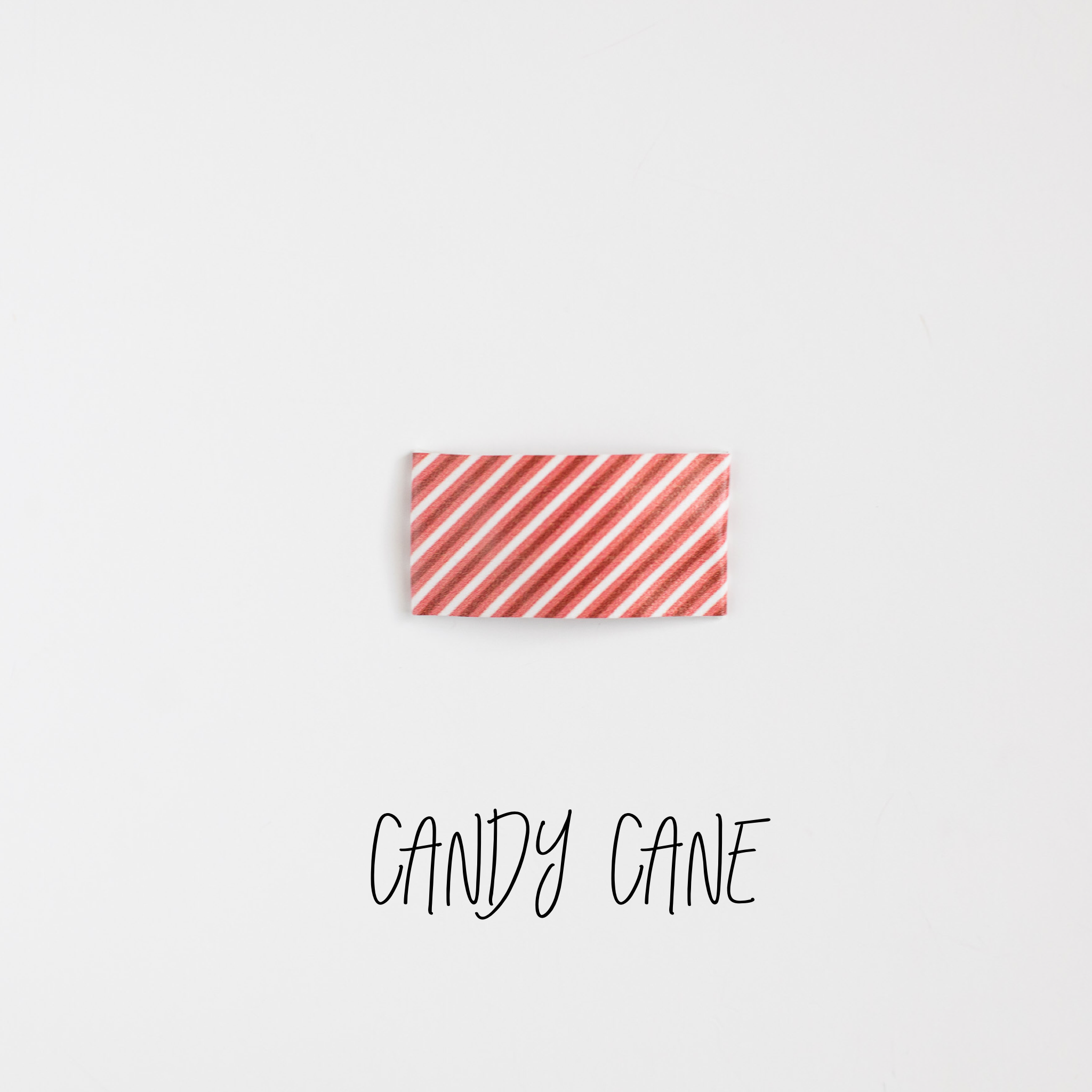 Candy Cane Faux Leather Printed Snap Clip
