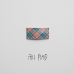 Fall Plaid Leather Snap Clip