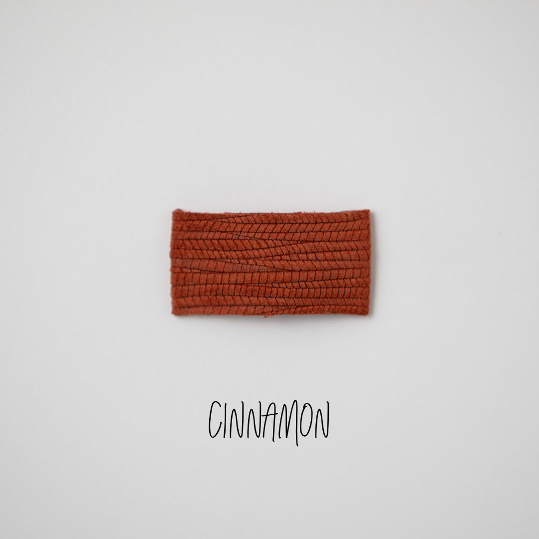 Cinnamon Leather Snap Clip