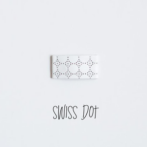Swiss Dot Leather Snap Clip