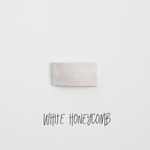 White Honeycomb Leather Snap Clip