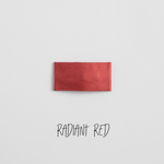 Radiant Red Leather Snap Clip