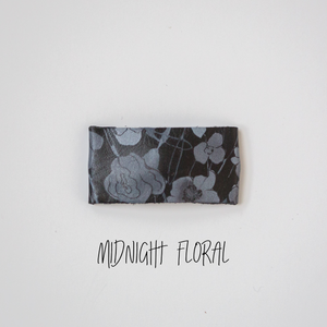 Midnight Floral Leather Snap Clip