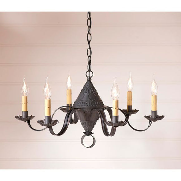 6-Arm Concord Chandelier in Kettle Black - Made in USA
