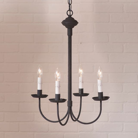 4-Arm Grandview Chandelier with Gray Sleeves - Made in USA
