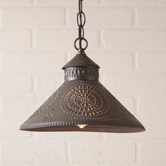 Stockbridge Shade Light with Chisel in Kettle Black - Made in USA
