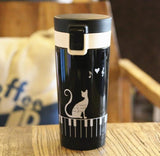Cat Pattern Travel Mug - MyCoffeeBrew