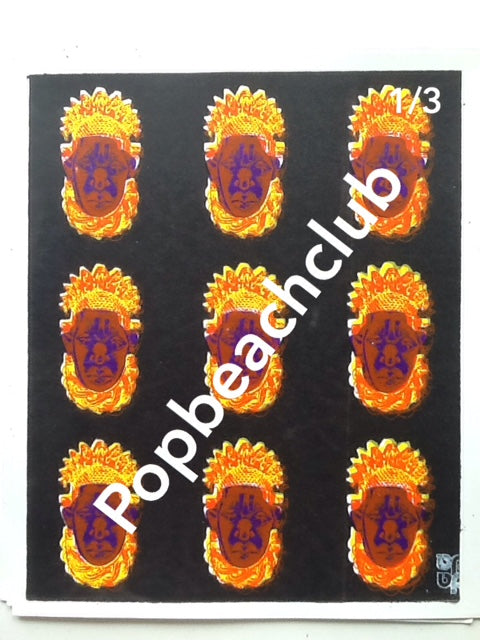 Nine Queens Idia ,black yellow red blue. 3 available 10x12