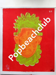 Queen Idia Solo. scarlet ,lime green,orange, red. 1 available
