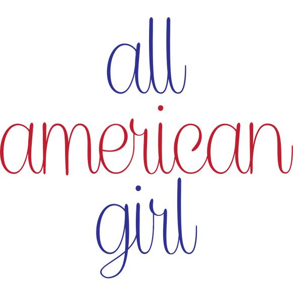 All American Girl Heels Ladies' Long Sleeve V-Neck Tee