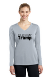 Bad Bitches for Trump Ladies' Long Sleeve V-Neck Tee