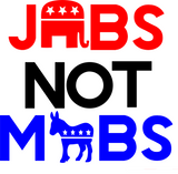 Jobs Not Mobs Red and Blue Tee