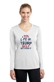 Trump Girl Ladies' Long Sleeve V-Neck Tee