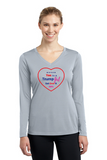 Trump Girl Heart Ladies' Long Sleeve V-Neck Tee