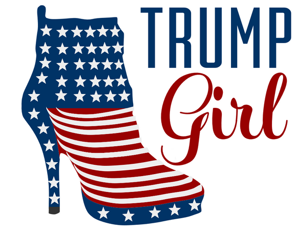 Trump Girl Heels Ladies' Long Sleeve V-Neck Tee