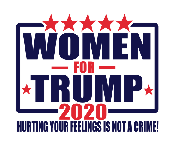 Women for Trump 2020 Ladies' Long Sleeve V-Neck Tee