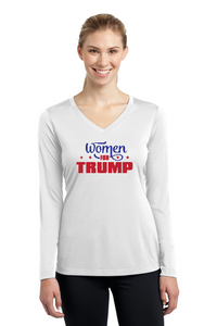 Women for Trump Ladies' Long Sleeve V-Neck Tee