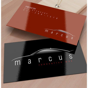 Custom Business Card w/ 2 Sided UV In 4/4 Full Color