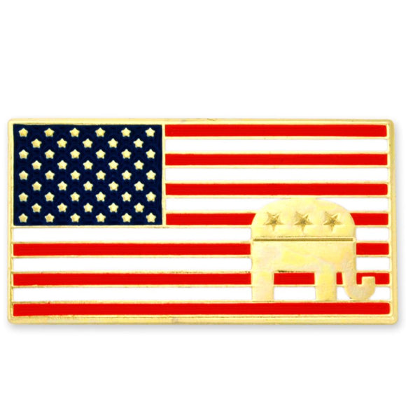 American Flag Republican Pin