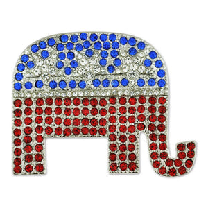 Rhinestone Republican Elephant Pin