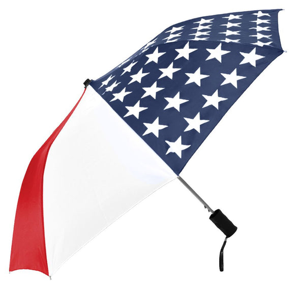Patriotic Auto-Open Folding Umbrella