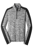 Womens: Sport-Tek® PosiCharge® Electric Heather Colorblock 1/4-Zip Pullover