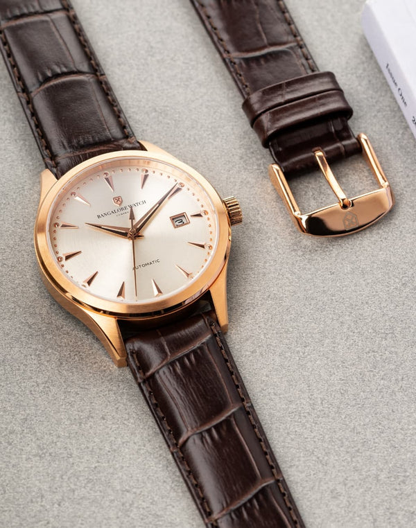 The Good Brown Strap, Rose Gold Buckle