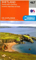OS Explorer Shetland Mainland Central 467