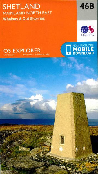 OS Explorer Shetland Mainland North East 468
