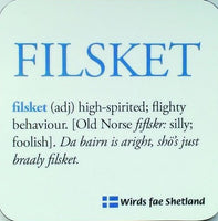 """Filsket"" Dialect Coaster"
