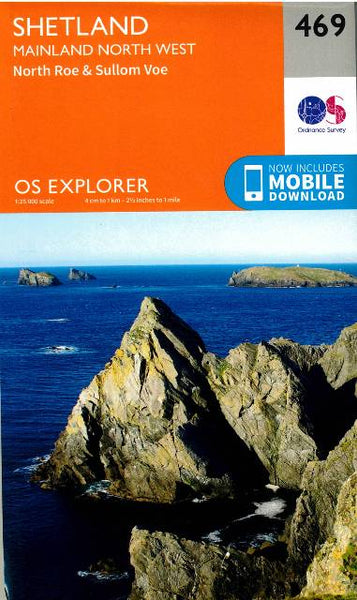 OS Explorer Shetland Mainland North West 469