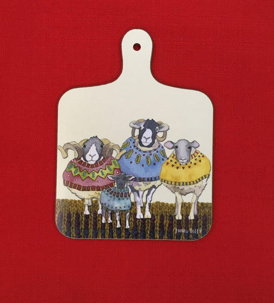 Sheep in Sweaters Mini Chopping Board