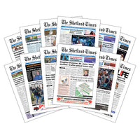 Twelve-Month Subscription to <br>The Shetland Times Print Edition