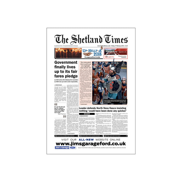 Single Copy of <br>The Shetland Times