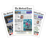 Three-Month Subscription to <br>The Shetland Times Print Edition
