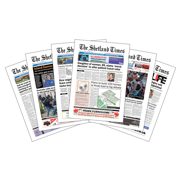 Six-Week Subscription to <br>The Shetland Times Print Edition