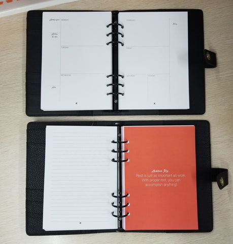 Black Key A5 Agenda + Yearly inserts