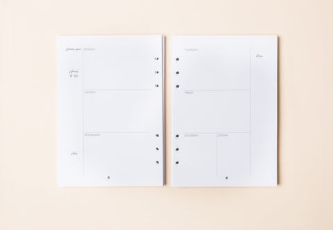 Ambition Defined - Undated Monthly/ Weekly Planner Inserts