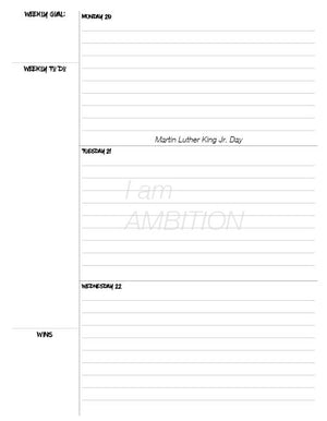 Ambition Defined Planner (digital)