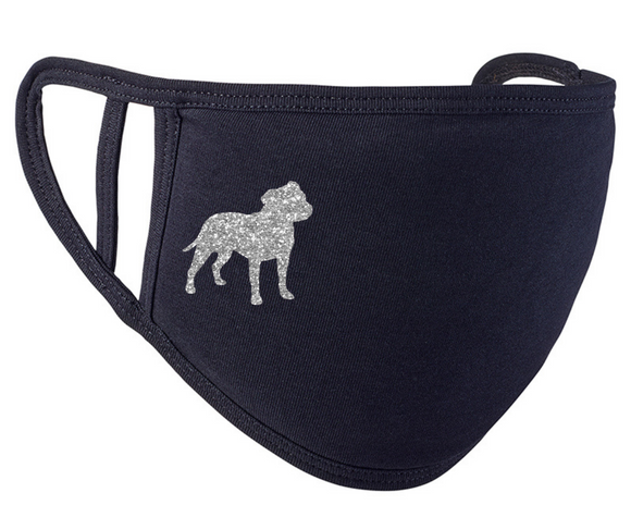 Staffordshire Bull Terrier Face Mask, Staffie Face Covering