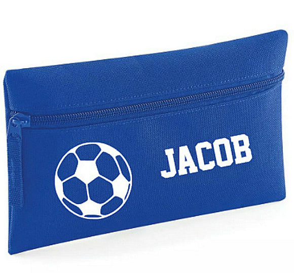 Football Pencil Case, Personalised Soccer Pencil Case