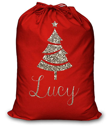Red Santa Sack, Personalised Christmas Gift Sack