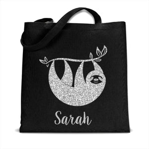 Sloth Tote Bag, Customised Tote, Reusable Cotton Bag