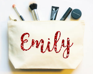 Personalised Make up Bag, Organic Pouch