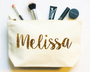 Personalised Makeup Bag, Custom Cosmetic Bag