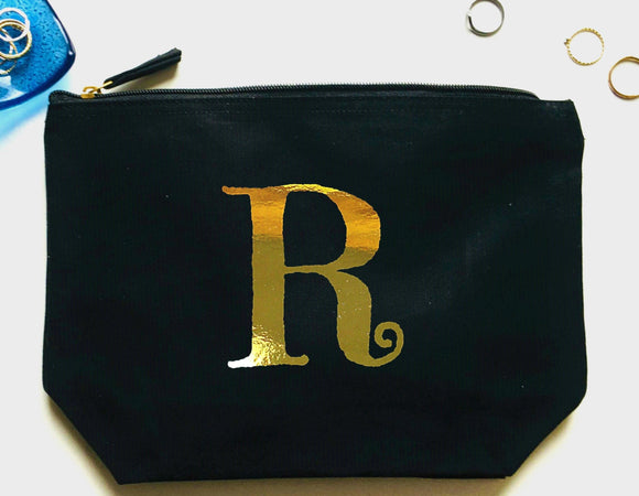 Personalised Makeup Bag, Initial Make Up Bag