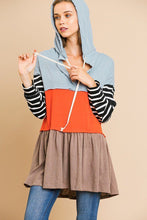 Robin Striped Long Sleeve Hooded Tunic
