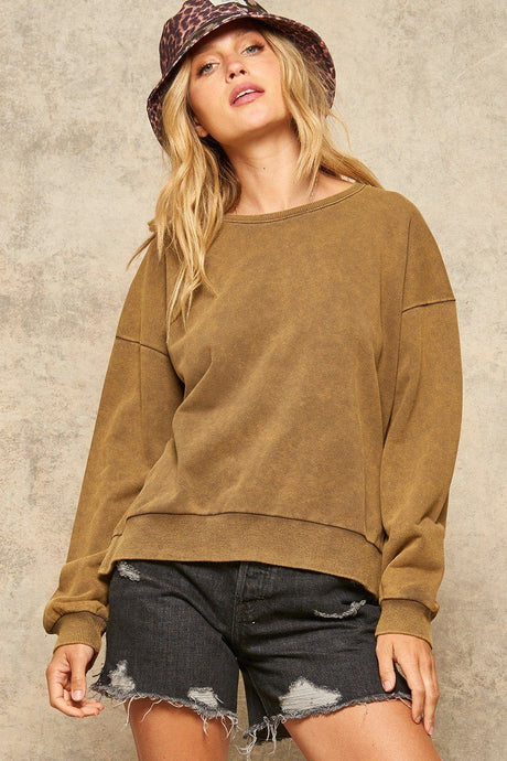 A Mineral Wash Knit Sweater