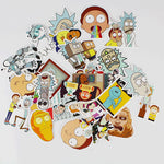 Lots de 35 Stickers Rick et Morty